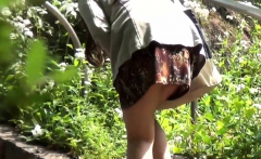 Asian teen slut urinates