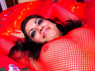 Racy Babe In Red Fishnets Gets Pounded Hard