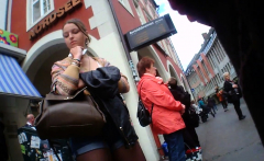 Hidden Upskirt In Public Place