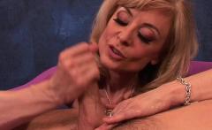 Naughty Nina takes care of a dick