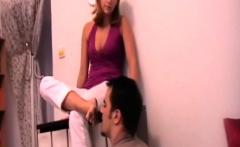 Slaves lick girls dirty feet clean