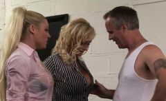 Big dick makes two chicks moan