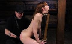Shaved pornstar bdsm bondage with cumshot