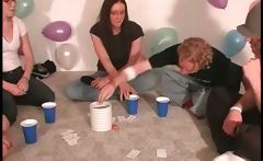 Nasty girls losing in truth or dare game kiss