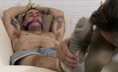 Teen gay cock and feet aussie guys KC Captured, Bound & Wors