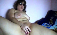 Mature BBW strip and masturbate
