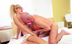 Sexy grandpa enjoys dirty sex with blondie