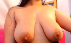 Busty brunette with big boobs rides cock