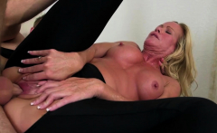 blonde milf Simone Sonay takes some younger cock