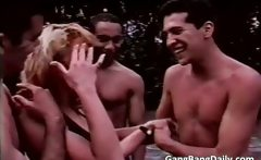 Great video of amateur gang bang