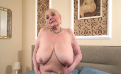 Old busty gran creampied