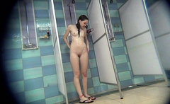 After shower solo my Mom on hidden camera