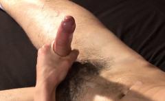 Masturbating stud teases his tight asshole