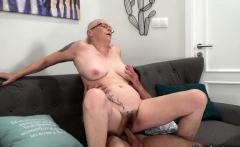 Granny with big tits enjoys hardcore sex