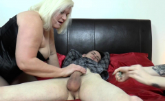 LACEYSTARR - GILF shares big cock cum with emo babe
