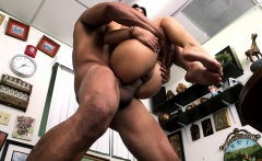Lusty brunette maiden Gina Valentina gets annihilated