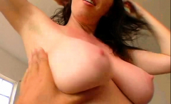 Lusty hottie Ray Veness with firm natural tits bangs