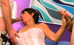 Granny Loves to Fuck With Two Hard Cocks