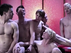 Gays Group Wanking Action