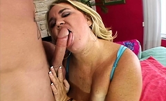Big Blonde Woman Donna's Fat Pussy Riding Hard Cock