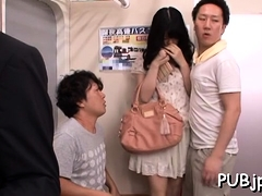 Lewd Asian Sweetie Aoi Nagase Caresses Herself