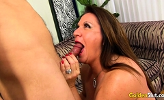 Older Leylani Wood Enjoys a Hard Cock