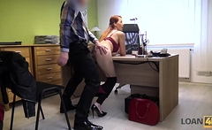 LOAN4K. Agent screws busty redhead because she really