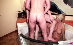 Mother and Step Daughter at Pool Group Swinger Sex German