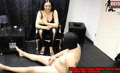 german bdsm torture with smoking femdom domina