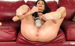 Big Tit MILF Silvia Saige Enjoys Playing With A Bunch Of