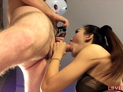 Teen Ladyboy Emmy Gives Blowjob And Gets Assfucked