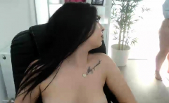 Hot brunette masturbate in wet panties