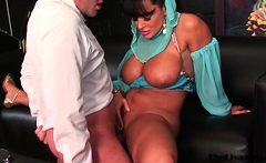 MILF genie Lisa Ann grants fucking wish for police facial