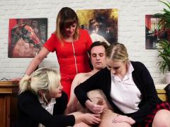 Dirty Cfnm Schoolgirls Jerking Cock