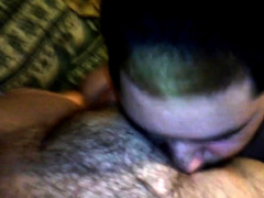 Chub 20 Year Old Pup Sucks Chub Dad's Cock And Tits