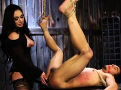 Tied Slave Boy Gets Pegged