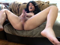 Auditioning Young Ladyboy Stroking Her Prick