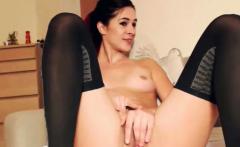 cute babe having fun masturbating her vagina