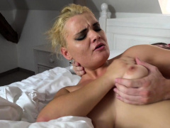 Nice Titted Babe Gets Her Cunt Crammed