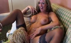 European girls play with their stiff dildos