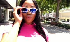 CamSoda - Moriah Mills struts in public showing big tits
