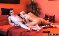 Stacked blonde milf with a perfect ass takes a deep banging