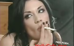 Andy San Dimas smoking Pornstars brunette