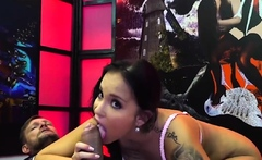 Latina jenifer mendez gets anal and facials