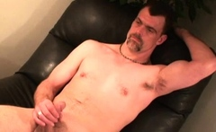Mature Amateur Mike Jerking Off