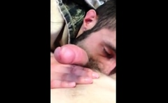 Hungry builder suckin dick n swallowin load 2