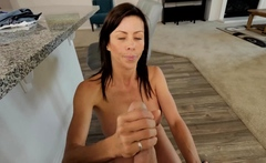 Bigtits MILF mom strips naked for young horny stepson