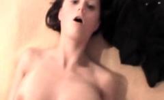 Amateur girlfriend full handjob with facial cumshot