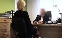LOAN4K. Naughty blonde fucks for loan to buy a new car