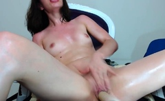 Horny Monica is fucked by machine on webcam
